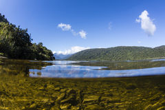 Moerakimeer, Westcoast, NZ royalty-vrije stock afbeeldingen