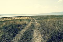 Moerasland rond Busko-meer, Bosnië-Herzegovina royalty-vrije stock afbeeldingen