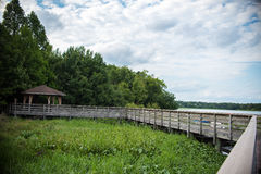 Moeraspark en Omheining Bridge Royalty-vrije Stock Afbeeldingen