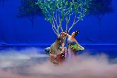 Moerbeiboom de blad-eerste handeling: de van de het drama` Zijde van de moerbeiboom tuin-epische dans Prinses ` stock afbeelding