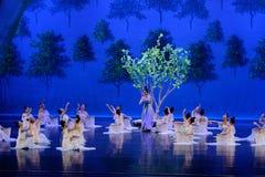 Moerbeiboom de tuin-eerste handeling: de van de het drama` Zijde van de moerbeiboom tuin-epische dans Prinses ` stock afbeeldingen