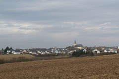 Moersdorf in Germany. View of the City of Moersdorf in Germany Stock Photos