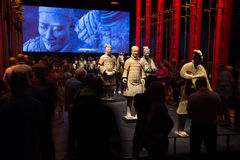 Moesgaard博物馆的,奥尔胡斯,丹麦中国赤土陶器战士 库存图片