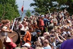 moesgaard逐年需讨论的北欧海盗 库存照片