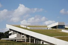 Moesgaard viking museum fotografering för bildbyråer