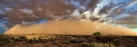 Moesson Haboob in de woestijn van Arizona Royalty-vrije Stock Afbeeldingen