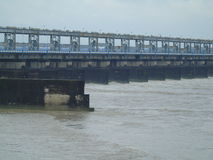 Moessonmening van brug Stock Foto