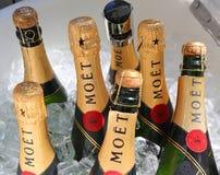 Moet和尚东香槟提出了在国家网球中心在美国公开赛期间2018年在纽约 免版税图库摄影