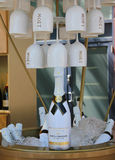 Moet和尚东香槟提出了在国家网球中心在美国公开赛期间2014年 库存图片
