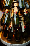 Moet champagne on a stand. In the restaurant Royalty Free Stock Images