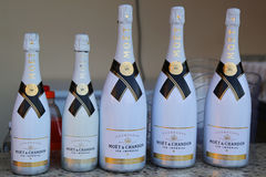 Moet and Chandon champagne on display at Royalton All-inclusive Resort and Casino Stock Photo