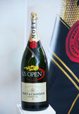 Moet and Chandon champagne presented at the National Tennis Center during US Open 2013 Royalty Free Stock Photo