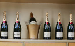 Moet and Chandon champagne presented at the National Tennis Center during US Open 2014 Stock Images