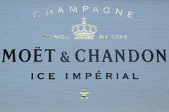 Moet and Chandon champagne presented at the National Tennis Center during US Open 2016 Stock Images