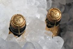 Moet and Chandon champagne presented at the National Tennis Center during US Open 2017 Stock Photography