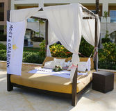 Moet and Chandon champagne  promotional gazebo at Royalton All-inclusive Resort and Casino Royalty Free Stock Photos