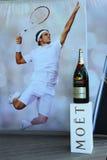 Moet en Chandon-champagne die op het Nationale Tenniscentrum tijdens US Open 2013 wordt voorgesteld Stock Afbeeldingen