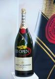 Moet en Chandon-champagne die op het Nationale Tenniscentrum tijdens US Open 2013 wordt voorgesteld Royalty-vrije Stock Foto