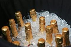 Moet en Chandon-champagne op het Nationale Tenniscentrum tijdens US Open 2016 in New York wordt voorgesteld dat Stock Foto's