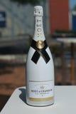 Moet en Chandon-champagne op het Nationale Tenniscentrum tijdens US Open 2016 in New York wordt voorgesteld dat Stock Afbeelding