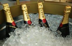 Moet en Chandon-champagne op het Nationale Tenniscentrum tijdens US Open 2013 wordt voorgesteld die Royalty-vrije Stock Afbeeldingen
