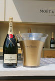 Moet en Chandon-champagne op het Nationale Tenniscentrum tijdens US Open 2014 wordt voorgesteld die Royalty-vrije Stock Fotografie