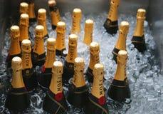 Moet en Chandon-champagne op het Nationale Tenniscentrum tijdens US Open 2014 wordt voorgesteld die Stock Foto's