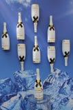 Moet en Chandon-champagne op het Nationale Tenniscentrum tijdens US Open 2014 wordt voorgesteld die Royalty-vrije Stock Foto