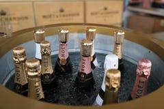 Moet en Chandon-champagne op het Nationale Tenniscentrum tijdens US Open 2016 wordt voorgesteld die Stock Foto
