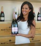 Moet en Chandon-champagne op het Nationale Tenniscentrum tijdens US Open 2016 wordt voorgesteld die Royalty-vrije Stock Fotografie