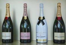 Moet en Chandon-champagne op het Nationale Tenniscentrum tijdens US Open 2016 wordt voorgesteld die Stock Afbeelding