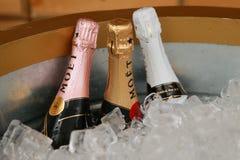 Moet en Chandon-champagne op het Nationale Tenniscentrum tijdens US Open 2016 wordt voorgesteld die Stock Fotografie