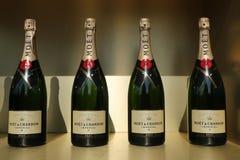 Moet en Chandon-champagne op het Nationale Tenniscentrum tijdens US Open 2016 wordt voorgesteld die Royalty-vrije Stock Foto