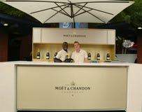 Moet en Chandon-Terras op het Nationale Tenniscentrum tijdens US Open 2013 Stock Fotografie