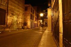 Moez Street, at night stock photography