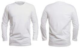 Mofa blanca de la camisa de manga larga para arriba fotos de archivo
