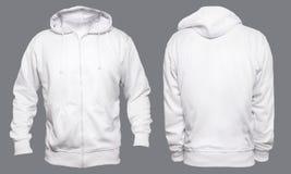 Mofa blanca de la sudadera con capucha para arriba fotografía de archivo libre de regalías