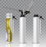 Mofa de empaquetado del vector del tubo de la espuma del montaje instalada stock de ilustración