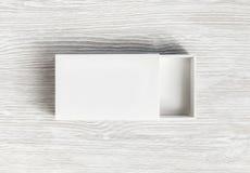 Mofa de la caja del espacio en blanco para arriba imagen de archivo