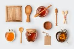 Mofa de la miel para arriba que califica la plantilla Visión desde arriba imágenes de archivo libres de regalías