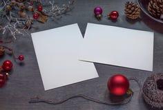 Mofa de la Navidad para arriba imagen de archivo