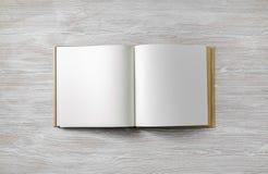 Mofa del libro del espacio en blanco para arriba fotografía de archivo