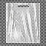 Mofa en blanco de la bolsa de plástico para arriba Paquete vacío del polietileno Imágenes de archivo libres de regalías