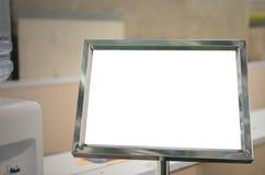 Mofa en blanco de la cartelera de la información para arriba Imágenes de archivo libres de regalías