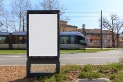 Mofa en blanco del anuncio para arriba Imagenes de archivo