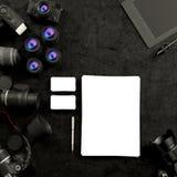 Mofa encima de la plantilla del negocio Imágenes de archivo libres de regalías