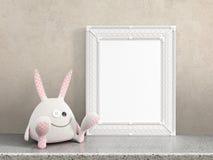 Mofa encima del marco en blanco representación 3d stock de ilustración