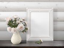 Mofa encima del marco en blanco representación 3d Imagenes de archivo