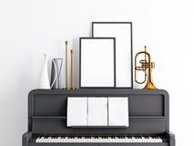 Mofa encima del marco en el piano stock de ilustración