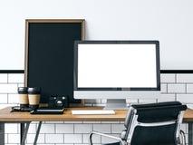 Mofa para arriba del ordenador genérico representación 3d Imágenes de archivo libres de regalías